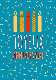 birthday candels birthday cards Carte d'anniversaire
