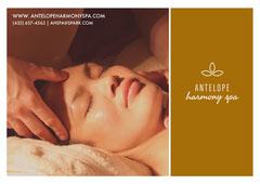 harmony  spa Massage Flyer
