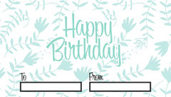 Floral Happy Birthday Gift Tag Gift Card