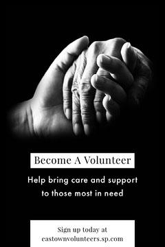 Black and White Volunteers Needed Postcard Volunteer