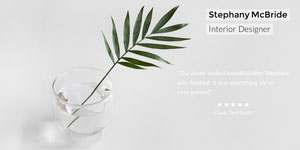Grey and White Minimalistic Interior Designer Linkedin Profile Banner LinkedIn