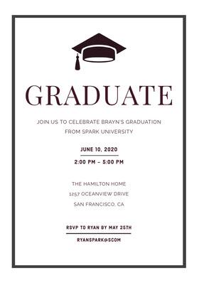 GRADUATE  Graduation Invitation