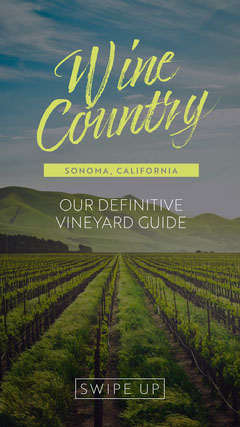 Light Toned Wine Country Guide Instagram Story California
