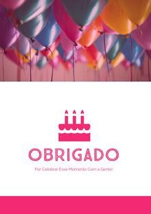 birthday balloons thank you cards  Cartão de aniversário