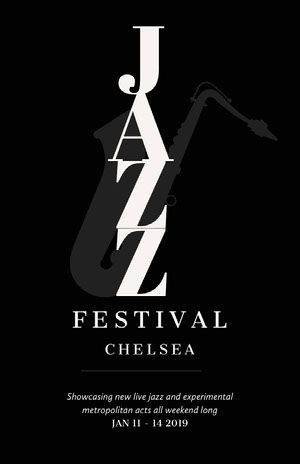 Jazz Festival Concert Poster Promo コンサート ポスター