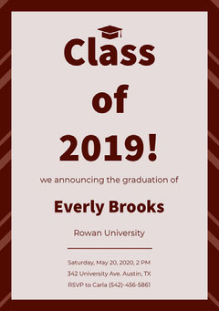 Class of 2019!  Education