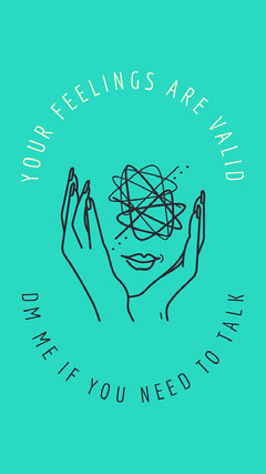 Green simple mental health Instagram story  Health Poster