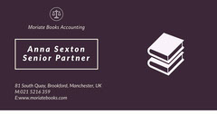 Violet and White Senior Partner Card Finance