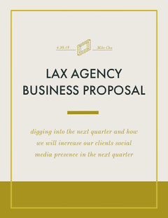 Brown and White Business Proposal Social Media Flyer