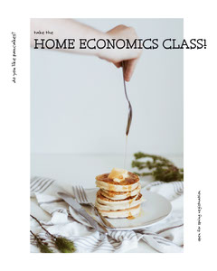 Home Finance Course Instagram Portrait Ad with Pancakes Finance