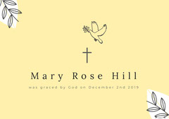 Mary Rose Hill Baptism