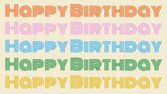 Happy Birthday Zoom Background Background