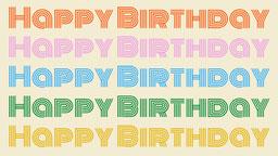 Happy Birthday Zoom Background