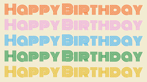 Colorful Typography Happy Birthday Zoom Background Zoom Background