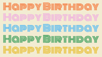 Colorful Typography Happy Birthday Zoom Background Planos de fundo para Zoom