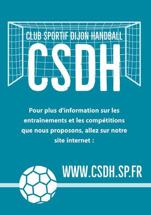 Blue Handball Goal Poster A4 Prospectus de club