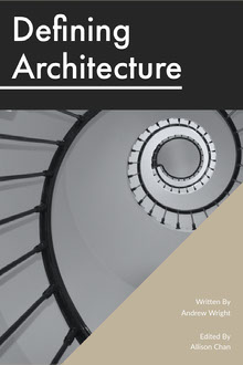 Black and Grey Defining Architecture Book Cover Couverture de livre