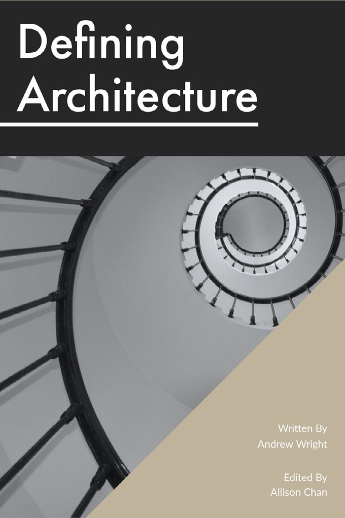 Black and Grey Defining Architecture Book Cover Idee per le copertine dei libri