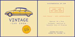 Yellow and Violet Vintage Car Show Eventbrite Car