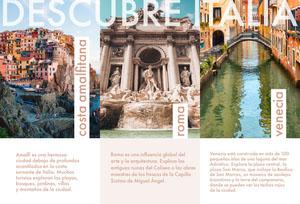 discover Italy travel brochures  Folleto