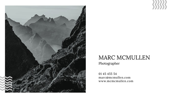MARC MCMULLEN Business Card Ideas