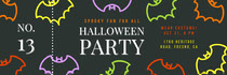 Black and Colorful Halloween Bat House Party Raffle Ticket Scary