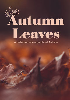 Brown Leaves Autumn Essay Book Cover Brown