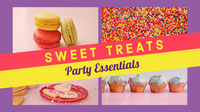 Colorful Sweet Treats Banner Banner