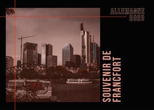 Black Tinted Photo Greetings From Frankfurt Postcard Carte postale de voyage