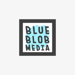 Black and Blue Hand Drawn Quirky Designer Studio Logo Square 1:1 Marketing