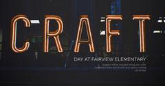 Dark Toned Neon Light Craft School Day Facebook Banner Crafts