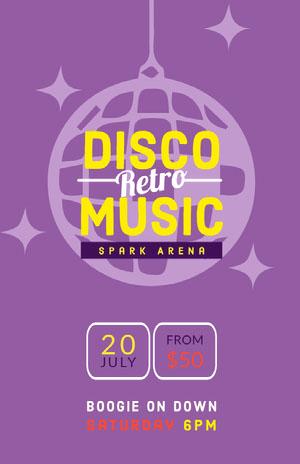 DISCO<BR>MUSIC Concertposter