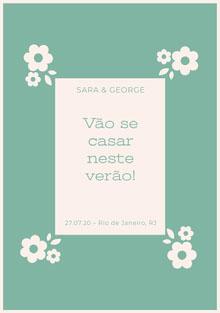 light blue and white floral wedding cards  Cartão de felicitações aos noivos