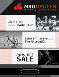 Red And Black MadCycles Newsletter - letter Newsletter Examples