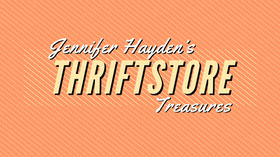 Orange and White Thriftstore Youtube Channel Banner do YouTube