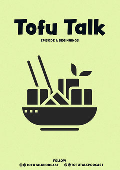 Yellow and Black Illustrated Tofu Food Podcast Flyer  Podcast