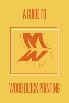 Yellow & Red Block Printing Pinterest Post Guide