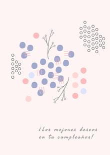 abstract art birthday cards  Tarjeta de cumpleaños