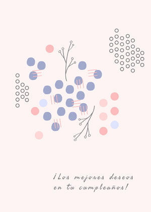 abstract art birthday cards  Tarjeta de cumpleaños con citas