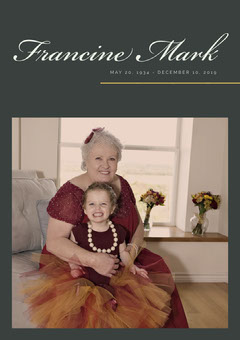 Funeral Invitation Card with Grandmother and Grandaughter Rest in Peace