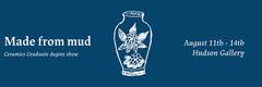 Blue & White Ceramics Degree Show Facebook Banner Art Show
