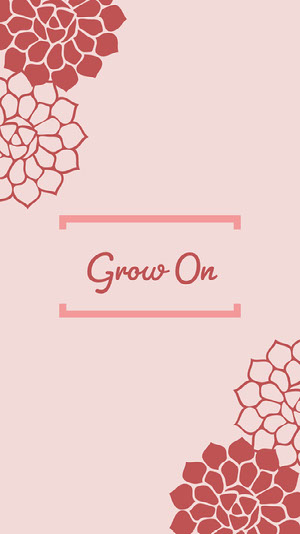 Grow On iPhone-Hintergrundbild