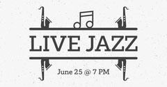 Black and White Illustrated Jazz Festival Facebook Post Jazz