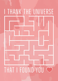 I Thank The Universe Valentine Card Heart