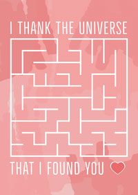 I Thank The Universe Valentine Card messages d'amour