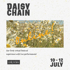 Daisy Flowers Photo Virtual Online Music Festival Instagram Portrait Stream