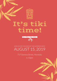 It's tiki time! Party Invitation