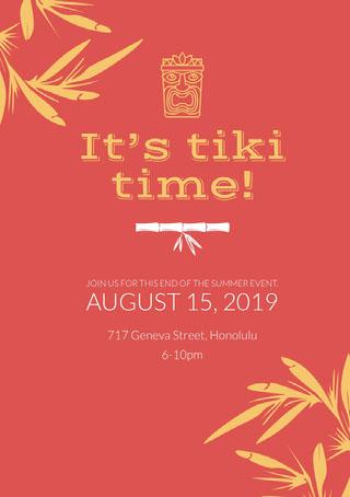 It's tiki time! Party Invitation