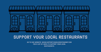support local restaurant instagram landscape  COVID-19 Re-opening