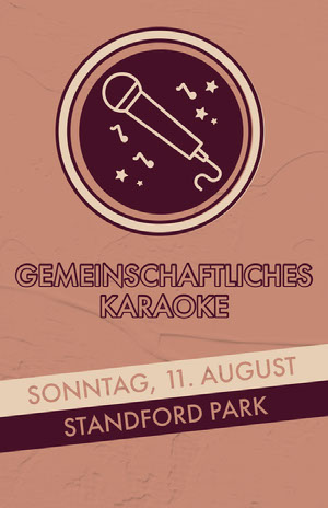 karaoke event poster  Veranstaltungsplakat